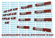 Labelling Rail Suction Pad, Labeler Vacuum Drum Pad, Labelling Vacuum Drum Suction Rail Pad