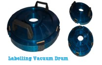 Vacuum drum for labelling machines
