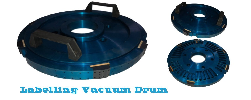 Vacuum drum for labelling machines